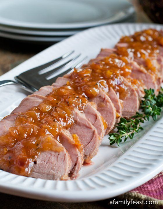 A simple and delicious recipe for Sweet and Sour Glazed Pork Tenderloin