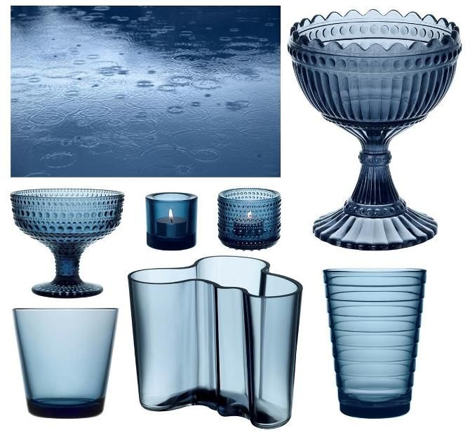 Rain new Iittala glass colour 2014 #rain #rainblue #blue #iittala via #purodeco
