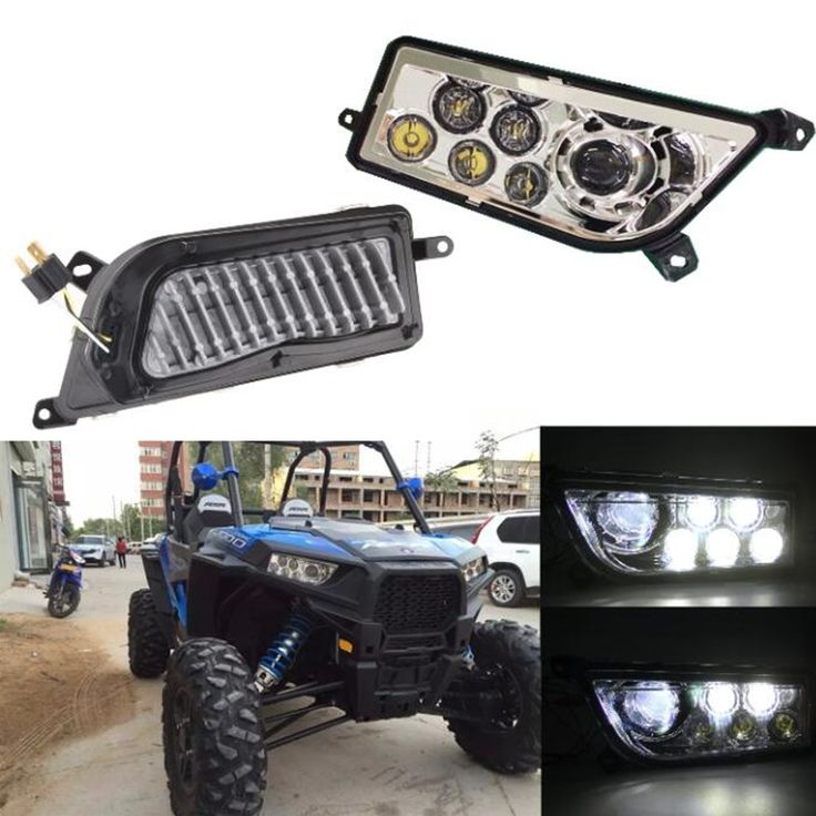 139.00$  Watch here - http://ali3g9.worldwells.pw/go.php?t=32761078209 - Chrome LED Headlight kit 12V 24V 30W Polaris Razor 1000 LED Headlamp UTV ATV LED Head Light for RZR XP TURBO