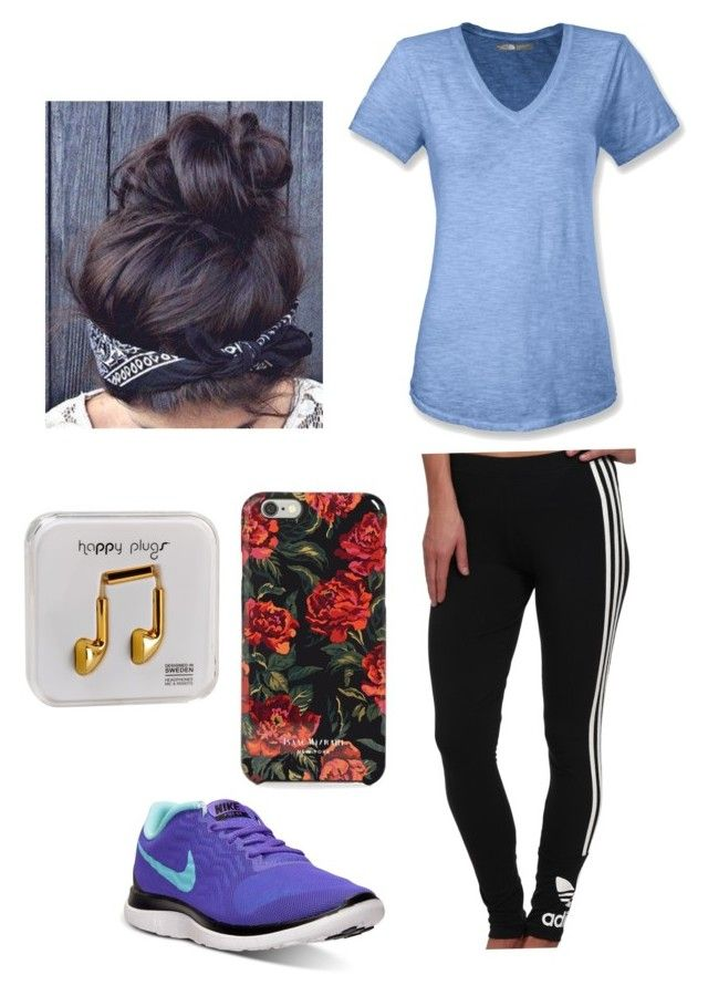 Lazy day by tadevicha on Polyvore featuring polyvore, fashion, style, The North Face, adidas Originals, NIKE, Isaac Mizrahi and Happy Plugs