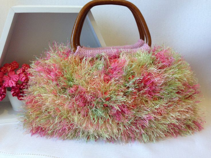 Pink Knitted Handbag