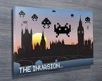 The London Invasion - Totally unique Space Invaders Pop Art piece showing the Space Invaders pixel art invading London with the characters showing against the Tower of London. http://www.bluehorizonprints.com.au/canvas-art/movie-sport-popart/The-London-Invasion/ - Canvas Printing - Photos on canvas - Wall art online	 - Birthday present ideas