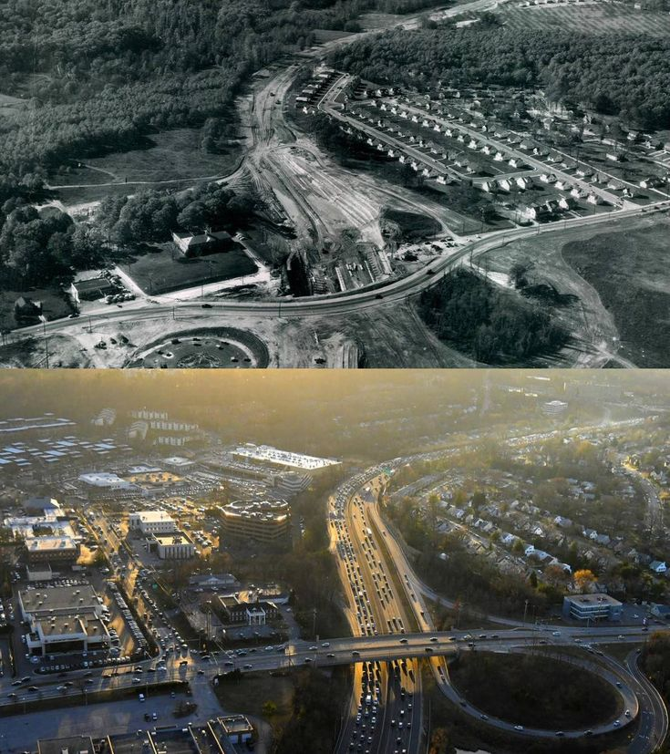 MD State Highway Adm‏ @MDSHA  It's #TBT! Check out this then and now photo of the Baltimore Beltway at York Road in Towson. #MDOTNews