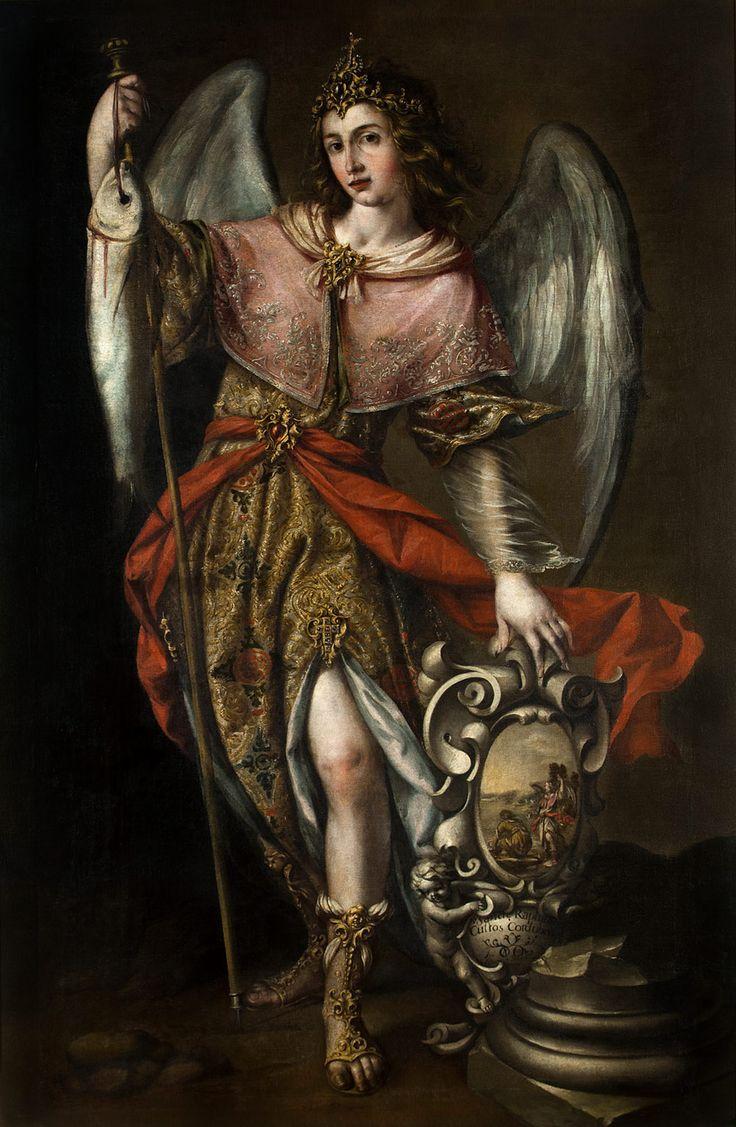 Saint Raphael the Archangel forms a pair with Saint Michael,
