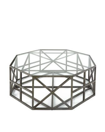 Octagon Coffee Table from Horchow - love the geometric elements of this design