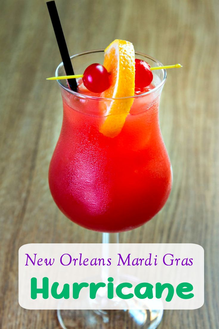 Mardi Gras Drink: New Orleans Hurricane Drink Recipe