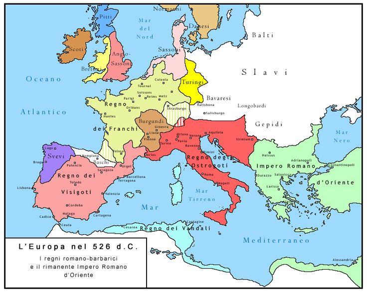 Risultati immagini per regni romano barbarici