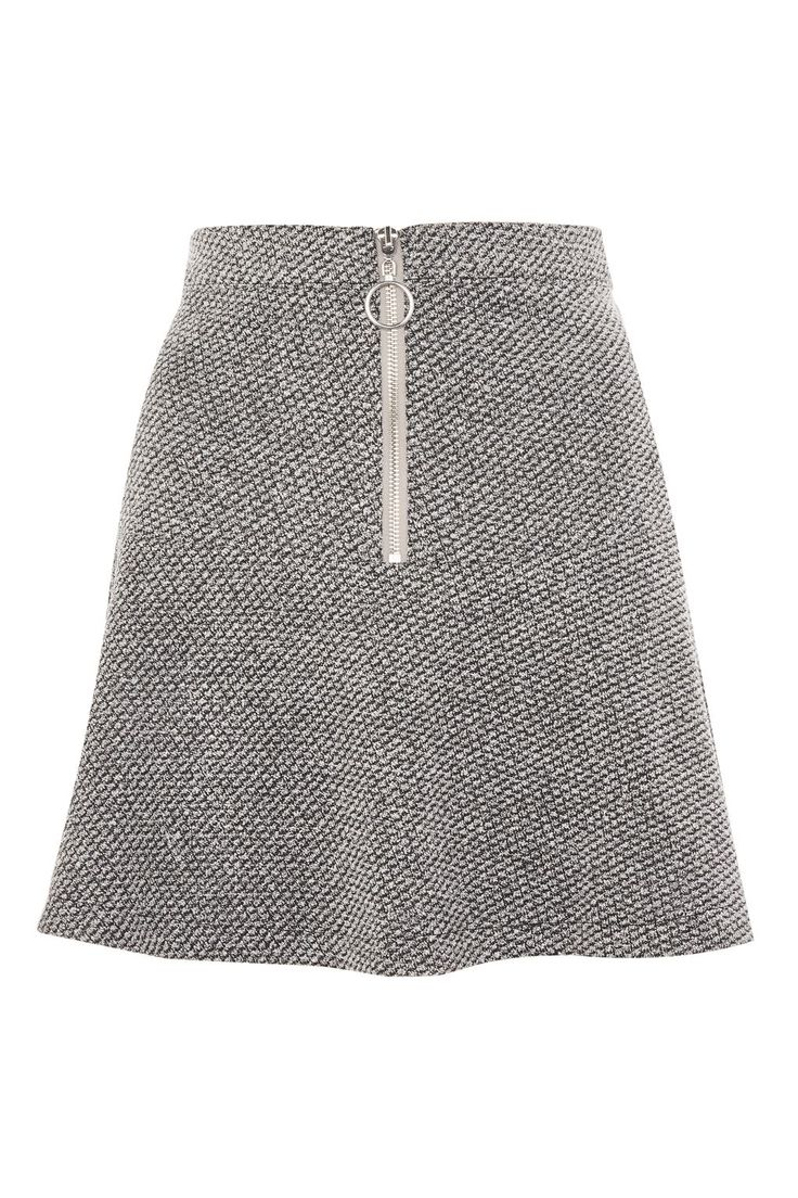 Salt And Pepper Peplum Hem Mini Skirt | Topshop