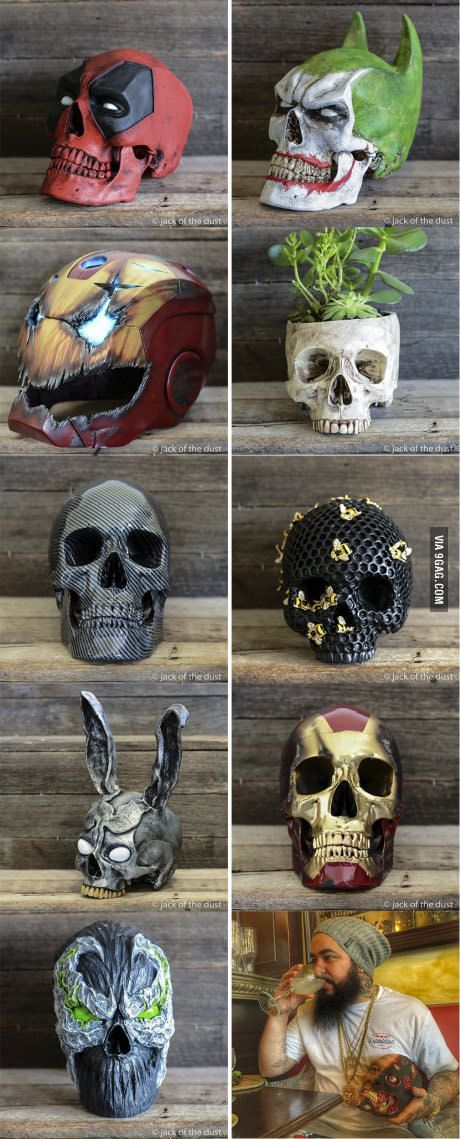 Wood Skulls....to say these are unbelievably awesome would be an understatement!! I need one on for my desk!!