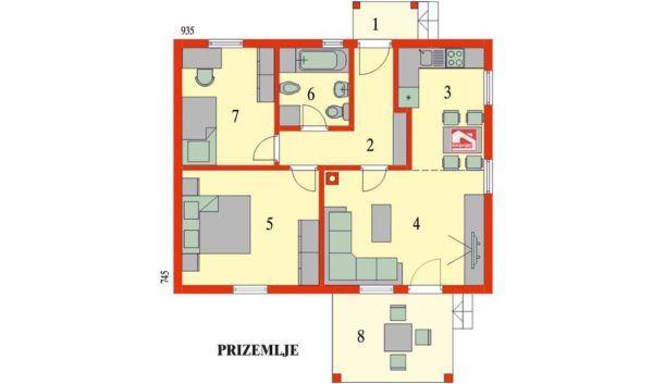 KUĆA IZ SNOVA: Prekrasna montažna kućica sa dvije spavaće sobe (DETALJAN PLAN) - Moja kuća i vrt