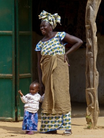 Woman and child . Gambia
