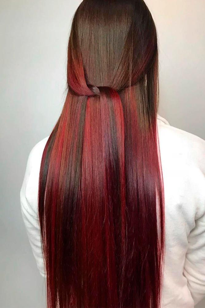 From Natural Brown To Wine Red Ombre Hair Ombrehair Longhair Beautifulhairstyles Red Ombre Hair Ombre Hair Blonde Ombre Hair Color