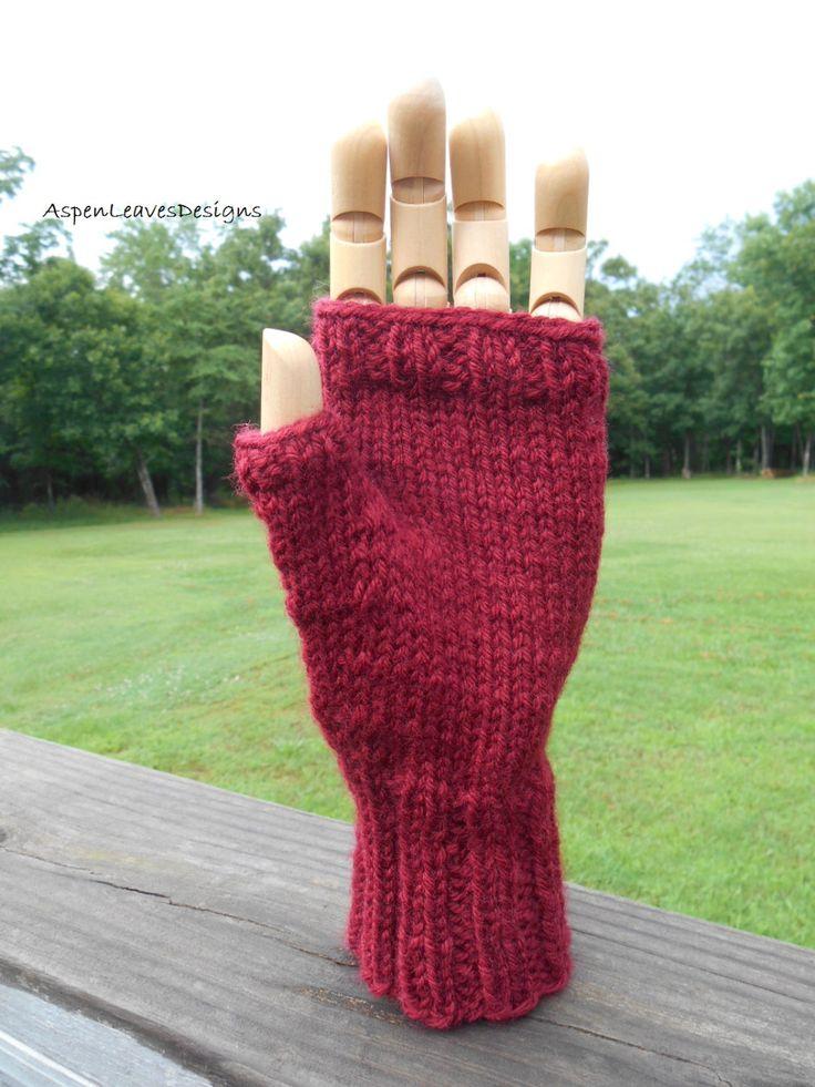 33 best Men\'s hand knit gloves images on Pinterest | Arm knitting ...