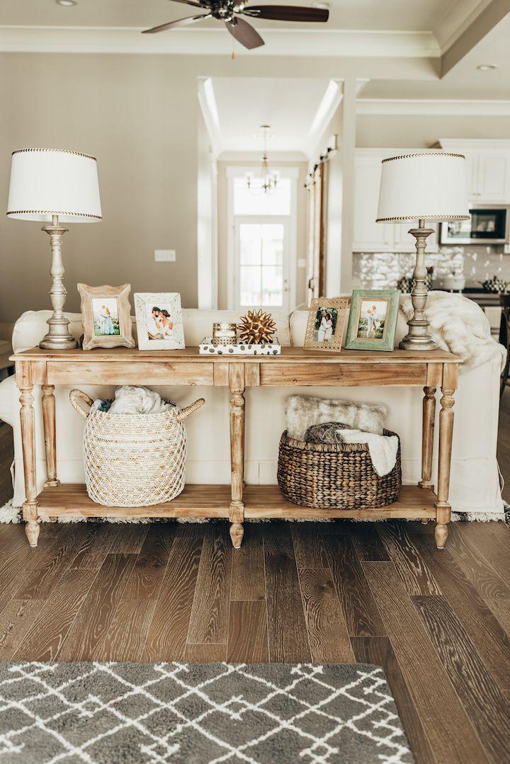 The Perfect Foyer Table Haute Off The Rack Sofa Table Decor Farmhouse Sofa Table Home