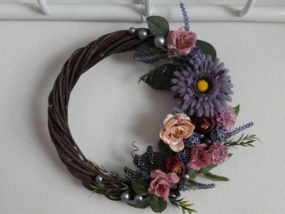 Check out this item in my Etsy shop https://www.etsy.com/listing/572188321/floral-wreathfront-door-wreathvintage