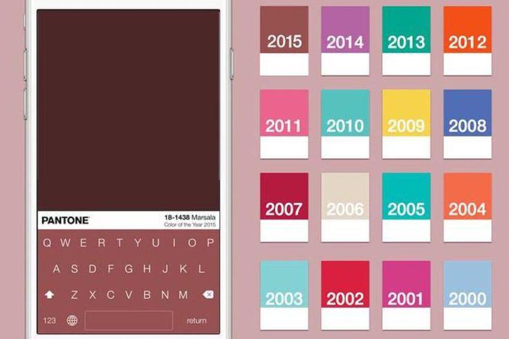 iOS Keyboard Inspired by Pantone Colors