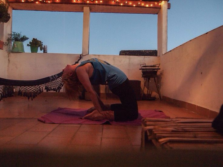 Yoga on the roof terrace in Salvador, Brazil