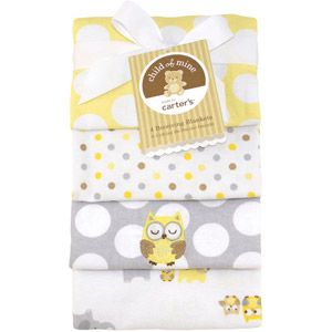Child of Mine by Carter's Treetop Friends 4-Pack Flannel Receiving Blankets - Gender Neutral -$9.97 AVAILABLE ONLINE AND IN STORES AT WALMART