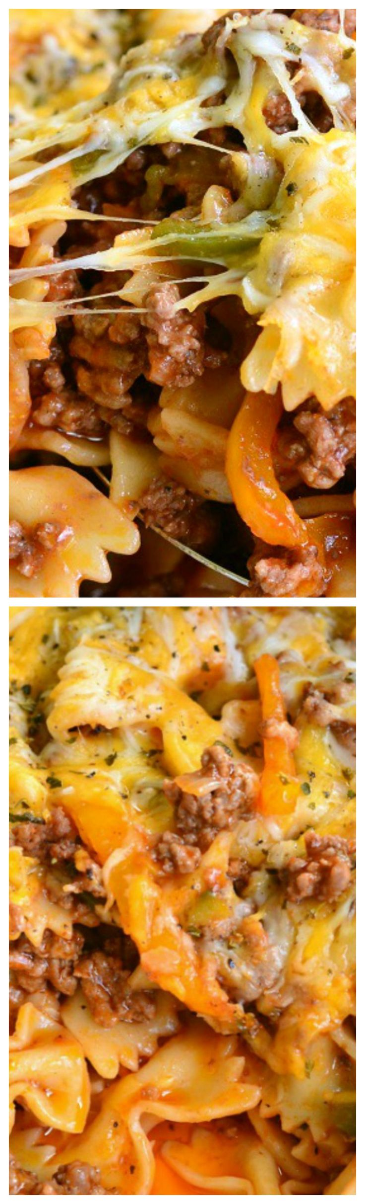 Stuffed Peppers Pasta Casserole ~ Inspired by the classic stuffed bell peppers dish, this comforting pasta casserole holds all those flavors inside. No need to choose, you can have two great dishes in one.