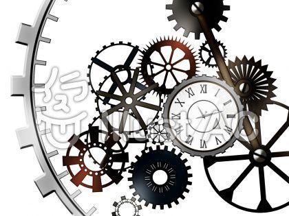 オリジナルのフリー素材 歯車と時計イラスト 歯車 イラスト 時計 時計 デザイン