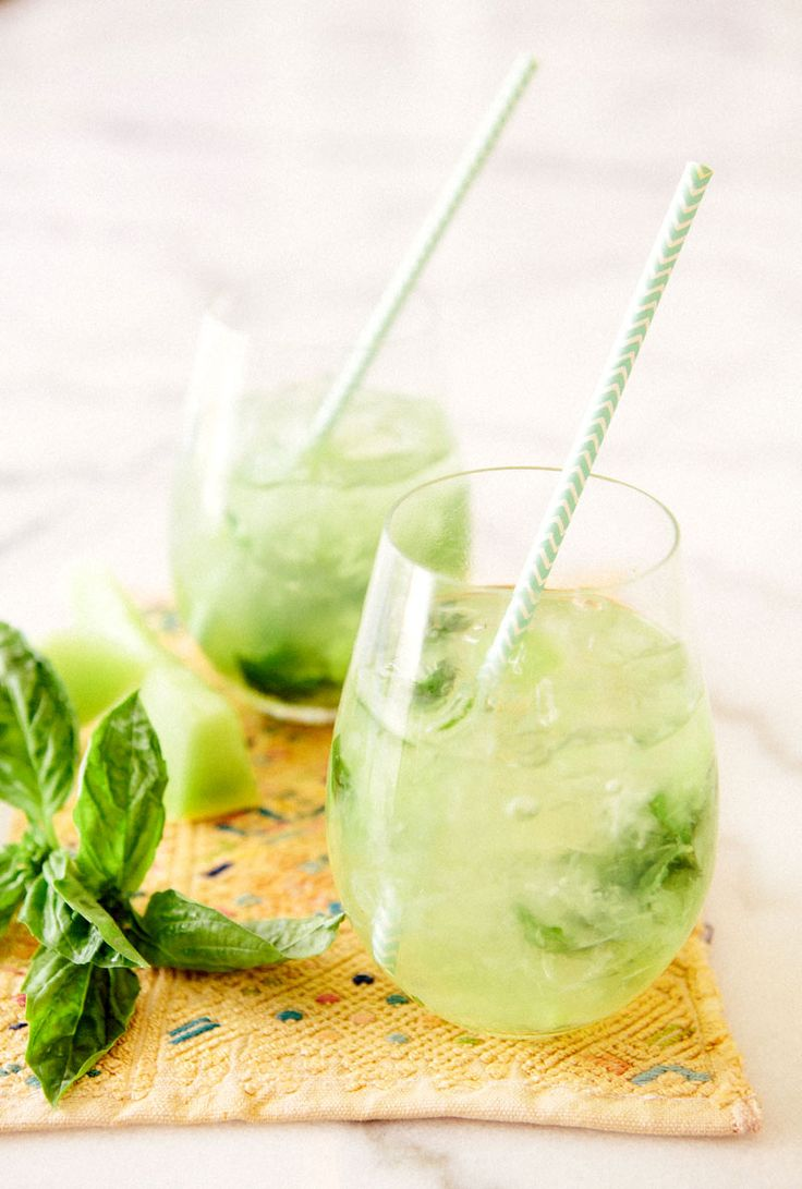 Honeydew Basil Spritzer via A House in the Hills