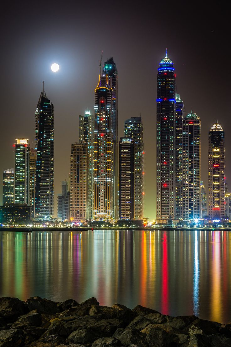 ~~Full Moon | nightscape, view from the Dubai marina |  by Björn Witt~~