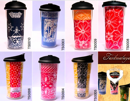 Bold and Vibrant! Real batik fabric from Tasikmalaya - Indonesia on the tube of quality tumbler!