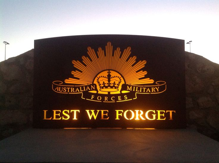 Rising Sun Sign Made For Local RSL War Memorial Park