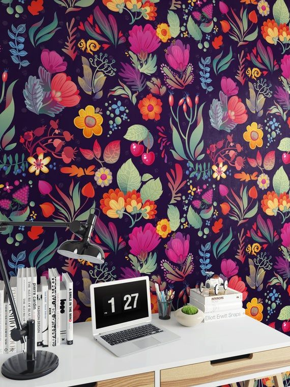 Vintage Floral Self Adhesive Wallpaper Removable Wallpaper Traditional Wallpaper Peel And Stick Vintage Floral Wall Decor Removable Wallpaper Wallpaper