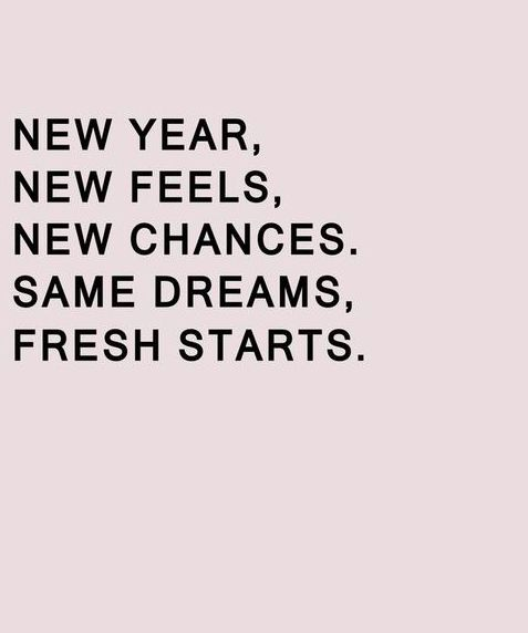 New year, new day, all the same opportunities