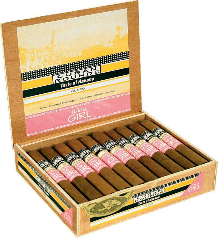 Attractive Baby Shower Cigars Part - 12: Itu0027s A Girl / Itu0027s A Boy Cuban Rounds Birth Announcement Cigars