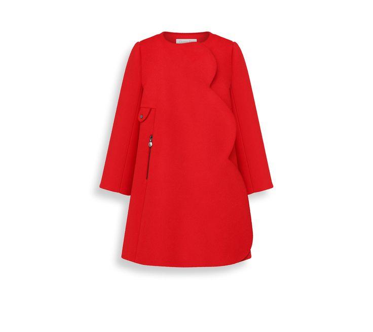 Manteau en laine cachemire rouge -  Dior