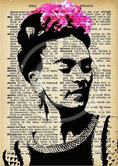 Frida Kahlo ATCs..... A4 digital download collage by Lilysart1