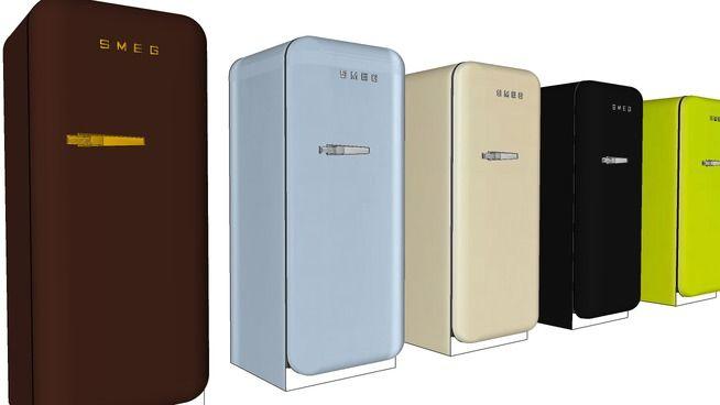 SMEG koelkast FAB28RRO1 (different colors) - 3D Warehouse