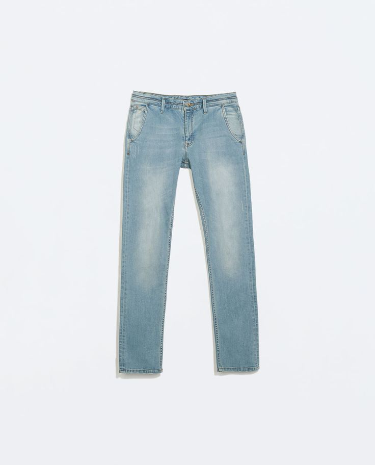 ZARA - SALE - DENIM CHINO TROUSERS