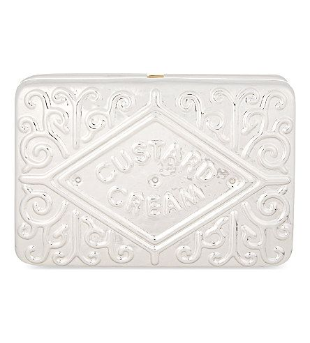 ANYA HINDMARCH Custard cream clutch (Silver brass