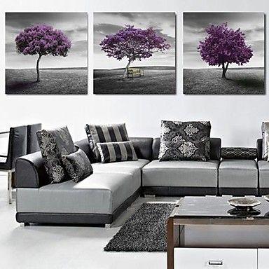 Canvastaulu art maisema violetti puita sarja 3 1760368 2016 – hintaan €62.71