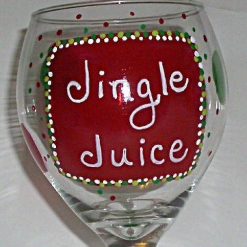 Hand+Painted+Christmas+Wine+Glasses | ... Polka Dots Hand Painted Wine Glass | Online Store Powered by Storenvy