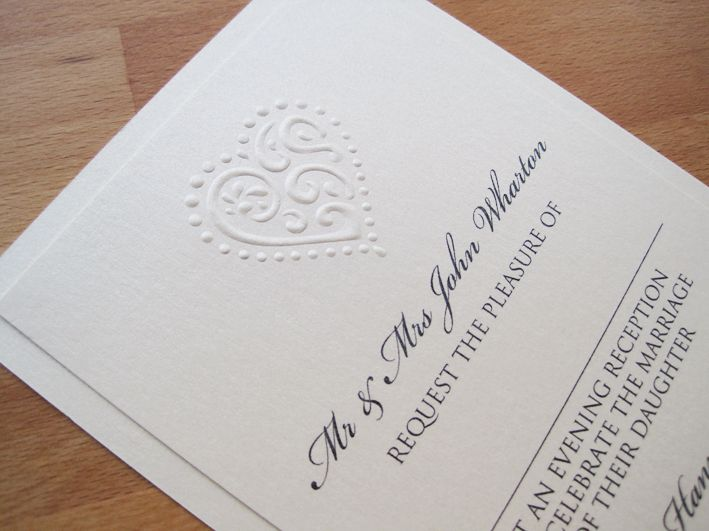 Liberty Evening Invitations in pearlescent cream.