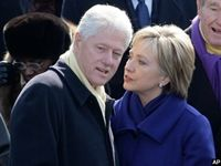 """Hillary Clinton explained that her family was """"dead broke"""" by the time that her husband President Bill Clinton left the White House, but the couple still spent millions on expensive homes in Washington D.C. and New York."""