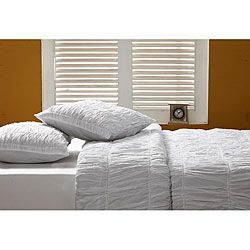 @Overstock - This gorgeous Sophie duvet cover set will add a touch of class to any bedroom. Using a ruching technique, this handmade bedding set gives a lush and cozy feeling to your bed.  http://www.overstock.com/Bedding-Bath/Sophie-3-piece-King-size-Duvet-Cover-Set/5501618/product.html?CID=214117 $249.99