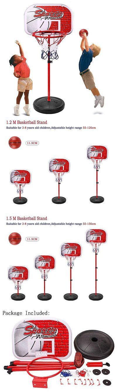 Backboard Systems 21196: Erencook Adjustable Basketball Set Portable Basketball Hoop Goal Outdoor Sports BUY IT NOW ONLY: $48.74