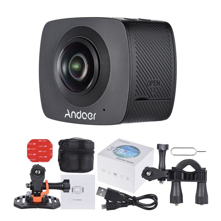 Andoer Dual-lens 360 Degree Panoramic Digital Video Sports - Tomtop.com