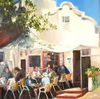 """Breakfast at the Bistro Basic Bistro - Stellenbosch 30 x 30 cm / 11.8 """" x 11.8"""""""