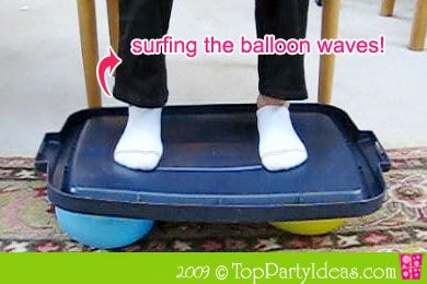 Balloon Surfing - try to balance and surf