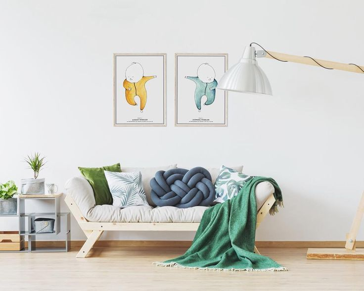 Coloured by hand to match your home.  Scaled to the length of your child at birth.  #birthprint #birthposter #studionatal #scandinaviandecor