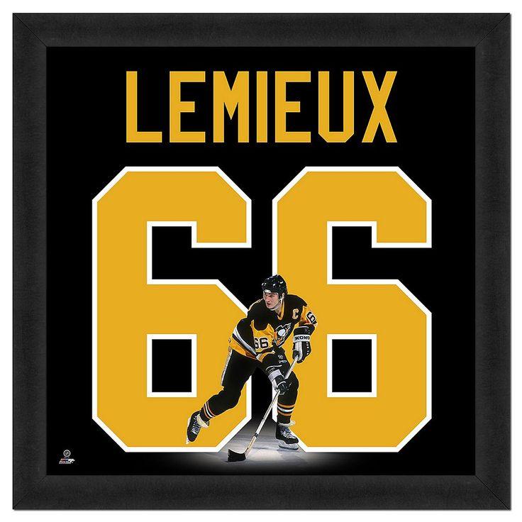 Mario Lemieux Framed Jersey Photo Wall Art, Multicolor