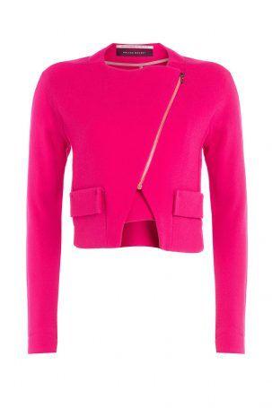 Roland Mouret Roland Mouret Cropped-Blazer aus Wolle – Pink