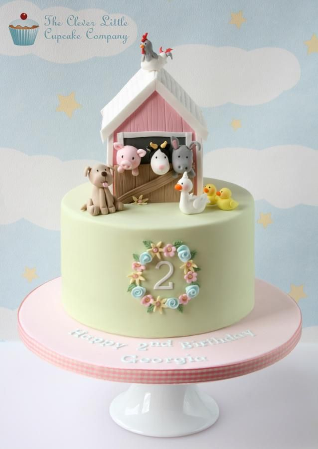 Pink Barn Cake - Cake by The Clever Little Cupcake Company