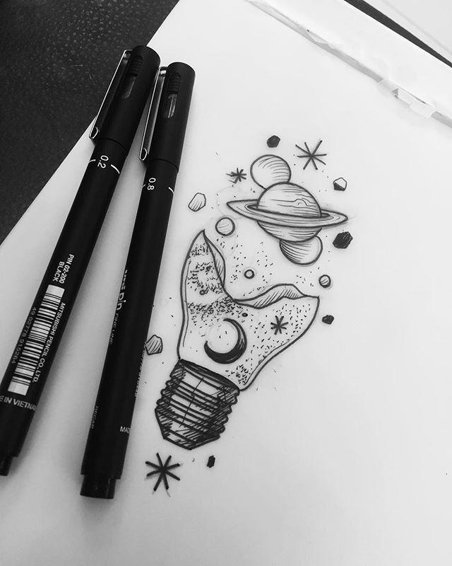 картинки идеи для скетчбука черной ручкой легко рассказать